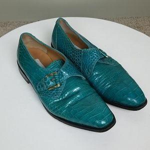 Mauri Mens Rare Turquoise Genuine Alligator Skin